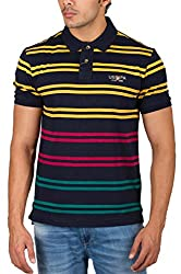 US Polo Assn. Men's Button Front Poly Cotton T-Shirt (USTS2031_Multi-Coloured_XL)