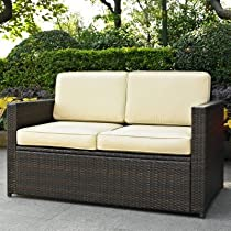Image of Palm Harbor Outdoor Wicker Loveseat
