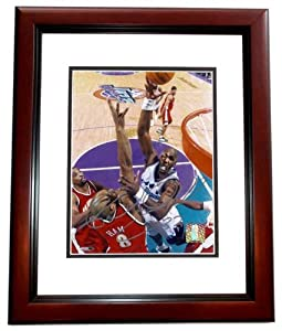 Karl Malone Autographed Hand Signed Utah Jazz 8x10 Photo MAHOGANY CUSTOM FRAME by Real Deal Memorabilia