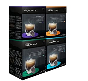 Caffe Impresso Smooth Blend Selection Pack Nespresso Compatible Capsules (Pack of 4, Total 40 Capsules)
