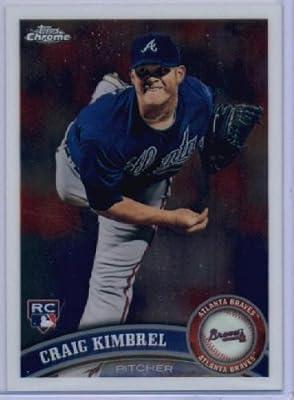 2011 Topps Chrome Baseball Card #195 Craig Kimbrel RC - Atlanta Braves (RC - Rookie Card) - MLB Trading Card