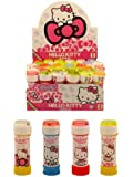 Pack of 6 Hello Kitty Girls Bubbles Kids Party Bag Fillers Maze On Lid Tubs