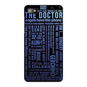 Impressive Blue Doc Angel Back Case Cover for Blackberry Z10