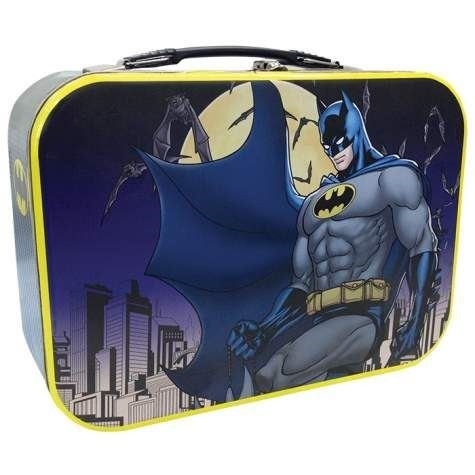 10 Inch Batman Protecting Gotham City Collectible Super Hero Tin Tote at Gotham City Store