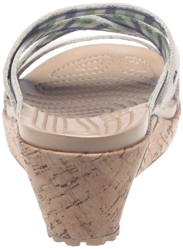 Crocs Women's A-Leigh Mini Wedge Sandal,Stucco,9 M US
