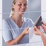 Ouba Miroirs décoratifs bricolage auto-adhésives Tile Mosaic Mirror Stickers Muraux Décor Mirror 15 * 15cm 16PCS...