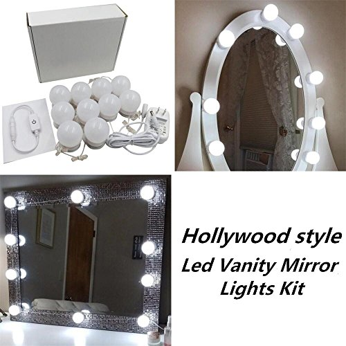 New version hollywood style led vanity mirror lights kit with 10 new version hollywood style led vanity mirror lights kit with 10 dimmable bulbs and power plug aloadofball Image collections