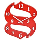 GATTS Purple Brown Red Purple(light) Blue High grade Plastic Wall Clock from GATTS ( Red )