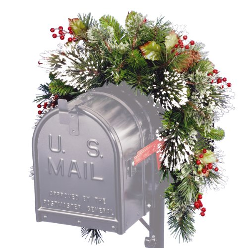 Wintry Pine Collection Mailbox Swag