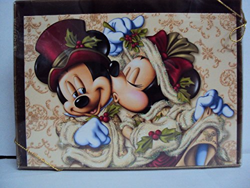Disney Parks Mickey Minnie Mouse Victorian Christmas Holiday Card Box of 14