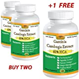 2+1 Free - Pure Garcinia Cambogia Ultra Extract, 60% HCA, 180 Caps, 1000mg to 1500mg Daily, Dr Oz Diet Tips Best Burn & Lose Fat Fast Recommendations to Naturally Lower Weight loss Pills & Cholesterol Supplements That Works - Quickly, Safely, Slim At Home & Lose It Now For Life