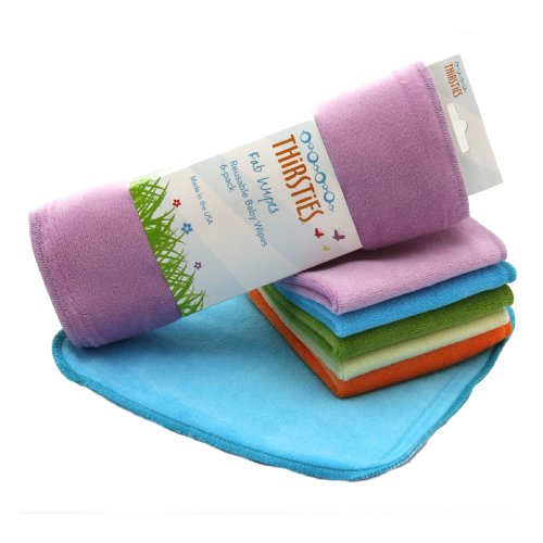 Thirsties Baby 6-Pack Fab Cloth Wipes