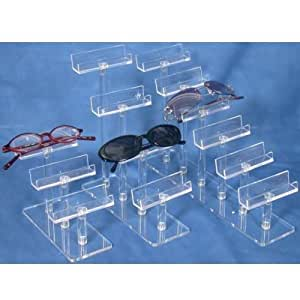Amazon.com: 3 Eyeglass Display Clear Acrylic Glasses Stand ...
