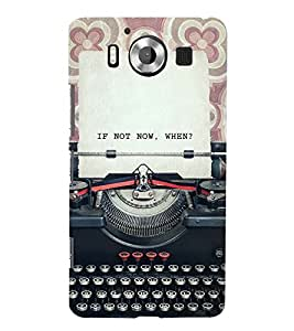 VINTAGE TYPEWRITER WITH A QUOTE 3D Hard Polycarbonate Designer Back Case Cover for Nokia Lumia 950 :: Microsoft Lumia 950