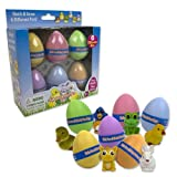 Easter Eggs - Hide Em and Hatch Em Eggs (6 Pc Value Pack) - Watch Them Hatch Like Magic Six Different Pets!