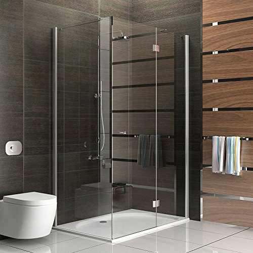 duschabtrennung duschkabine rahmenlos walk in dusche alpenberger glasdusche ca 120 x 80. Black Bedroom Furniture Sets. Home Design Ideas