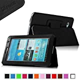 Fintie (Black) Slim Fit Folio Case Cover for Samsung Galaxy Tab 7.0 Plus / Samsung Galaxy Tab 2 7.0 Tablet-Multiple Color Options