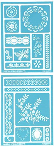 Martha Stewart Crafts Adhesive Stencils (5.75 by 7.75-Inch), 32271 18 Fair Isle Dots Designs
