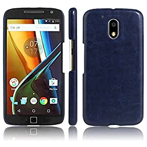 Fitbest Faux Leather Ultra Slim Back Cover for Moto G Play 4th Gen - Blue