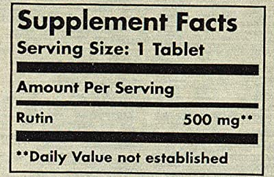 Solgar Rutin Bioflavonoids Tablets, 500 mg, 100 Count