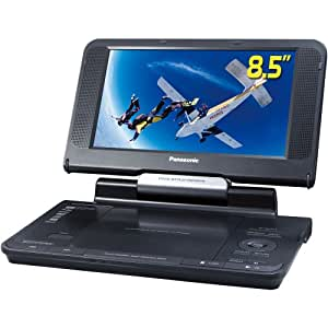 Panasonic DVD-LS855 8.5-Inch Portable DVD Player with Car Headrest Mounting Bracket, Black