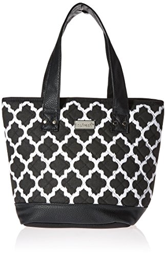 fit-and-fresh-signature-collection-melbourne-insulated-lunch-bag-black-and-white-ikat-black