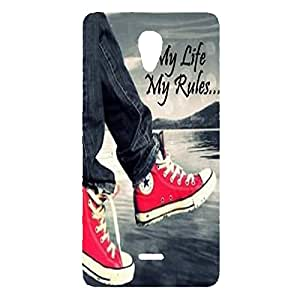 GOON SHOPPING HIGH QUALITY PRIENTED BACK CACE COVER FOR MICROMAX CANVAS UNITE 4 Q427 MULTI-20