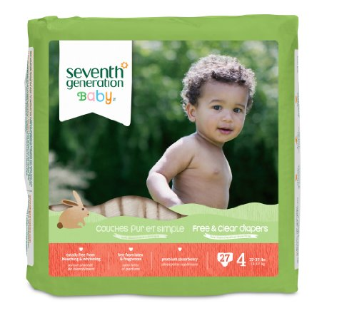 Seventh Generation Free and Clear Baby Diapers,