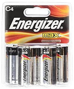 Energizer C Cell Alkaline Battery Retail Pack - 4-Pack