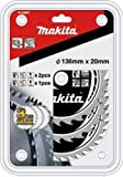 Aparoli Makita B-33897 Specialised Saw Blade Set 3-Piece 136 mm for Battery-Powered Hand-Held Jigsaws