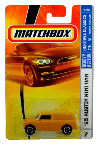 Mattel Year 2007 Matchbox MBX Heritage Classics Series 1:64 Scale Die Cast Car #26 - Yellow 2-Door '65 AUSTIN MINI VAN (M5313) - 1