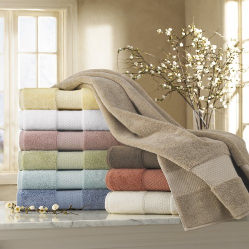 CassaDecor Set of 6 100% Turkish Cotton Bath Towels (2 Bath, 2 Hand, 2 Wash) - Elegance by Kassatex, Chocolate