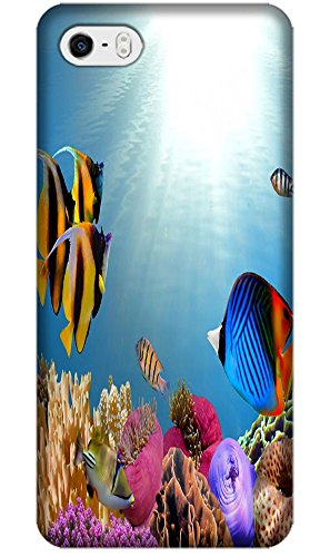 Top Quality Phone Accessories Under Sea World Beautiful Colorful Fishs Clean Water Special Design Cell Phone Cases Covers For Iphone 5/5S No.14