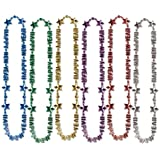 Beistle 80595-ASST 1-Pack Happy New Year Beads-of-Expression, 36-Inch