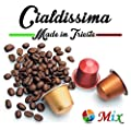 cialdissima 100 CAPSULES NESPRESSO COFFEE! 100% COMPATIBLE! ITALIAN ESPRESSO! THREE DIFFERENT BLENDS!