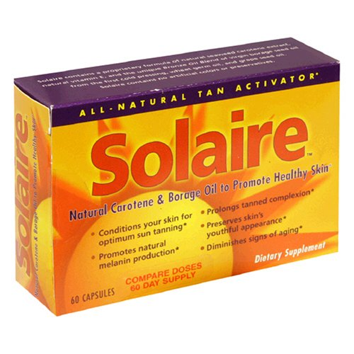vitamin a sunscreen:Solaire Natural Carotene & Borage Oil, to Promote Healthy Skin, 60 capsules