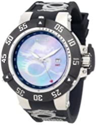 Invicta Men's 0876 Subaqua Noma III Blue Mother-Of-Pearl Dragon Dial Black Polyurethane Watch