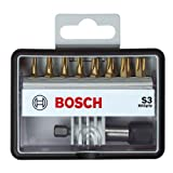 Advanced Bosch XS-ProSPEC 9 Piece S Max Grip Screwdriver Bit Set With Quick Change Universal Holder in Robust Line Case [Multi Set] w/Extended Warranty