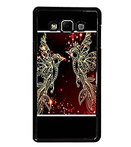 PrintDhaba Beautiful Birds D-1345 Back Case Cover for SAMSUNG GALAXY A7 (Multi-Coloured)