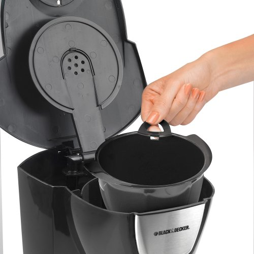 Black And Decker Coffee Maker Permanent Filter : Black & Decker DCM100B 12-Cup Programmable Coffeemaker with Glass Carafe Black Coffee Maker