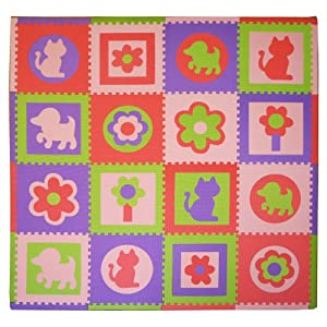 Tadpoles Cats And Dogs Playmat Set, Pink