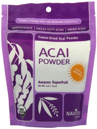 Navitas Naturals Acai Powder, 4-Ounce Pouches