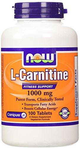 AHORA alimentos tartrato de L - carnitina 1000mg, 100 tabletas