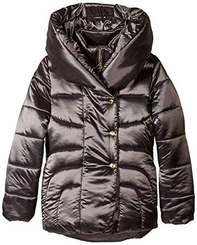 Amy Byer Outerwear Big Girls' Shawl Collar Puffer Coat, Graphite, 14
