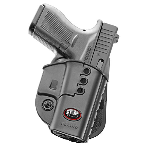 New Fobus GL43ND Glock 43 Paddle Holster