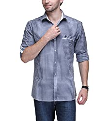 Macoro Men's Casual Shirt ( 3034 NBLU )