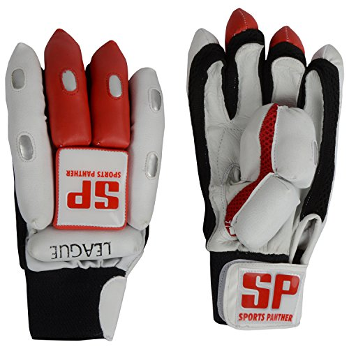 SP Sports Panther League Unisex Leather And PU Batting Gloves