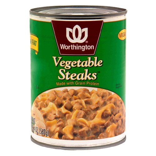 Worthington Vegetable Steaks, Low Fat, 20-Ounce Cans (Pack of 12)