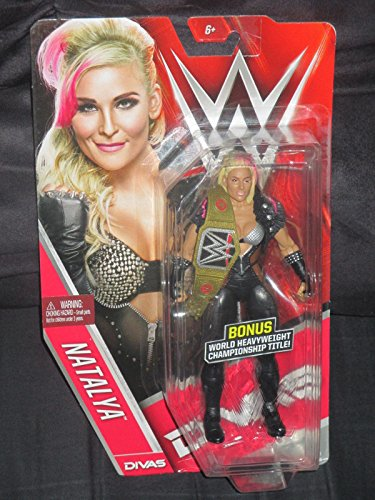 Divas Edition Natalya WWE Figure With Bonus Mini Replica World Heavyweight Championship Belt (Wwe Mini Replica Belts compare prices)