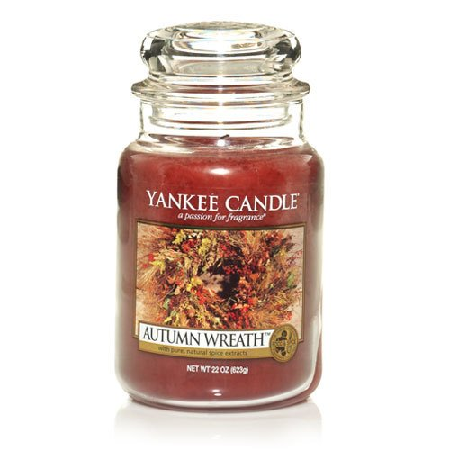 Large Jar Candle, Autumn Wreath
